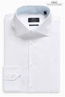 Signature Slim Fit Premium Herringbone Shirt