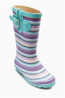 Stripe Wellington Boots (Older Girls)