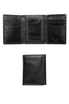Black Leather Tri Fold Wallet