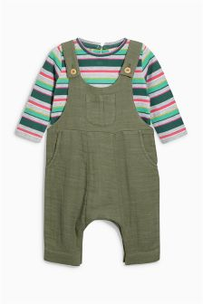Dungarees And T-Shirt Set (3mths-6yrs)