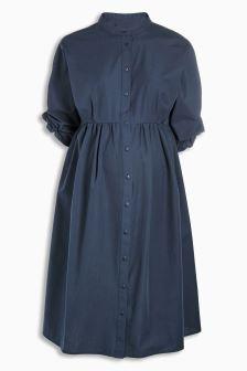 Maternity Cotton Shirt Dress