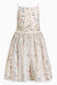 Printed Graduated Sequin Dress (3-12yrs)