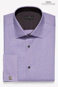Signature Slim Fit Double Cuff Shirt