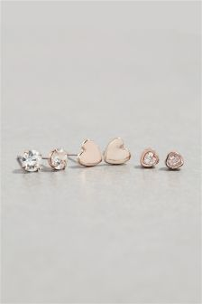 Heart Earrings Three Pack