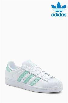 adidas Originals White/Blue Superstar