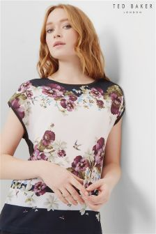 Ted Baker Dark Blue Floral Blouse