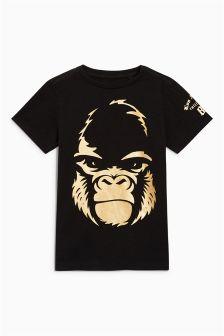 Foil Print Gorilla T-Shirt (3-16yrs)