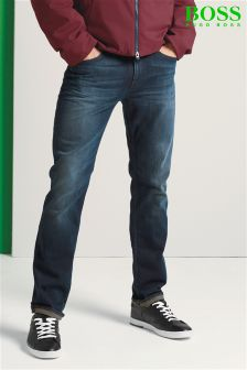 Boss Green Mid Wash Delaware Straight Fit Jean