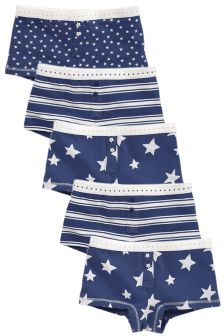 Star Print Boxers Five Pack (3-16yrs)