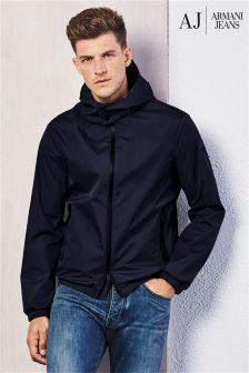 Armani Jeans Navy Hooded Jacket
