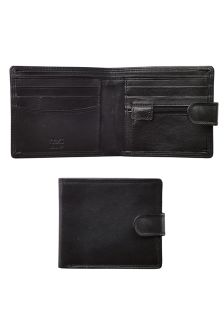 Leather Popper Wallet