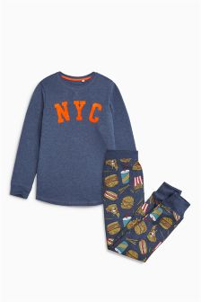 Burger All Over Print Pyjamas (3-16yrs)
