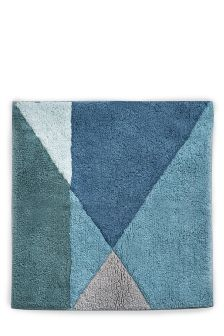 Teal Geo Tufted Shower Mat