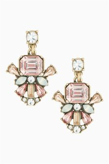Pink Crystal Effect Earrings