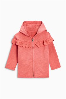 Frill Zip Through Hoody (3mths-6yrs)