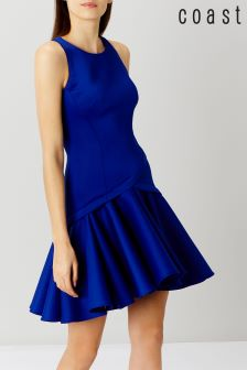Coast Cobalt Crysta Peplum Hem Dress