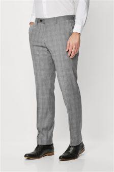 Signature Check Suit: Trousers
