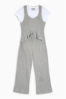 Rib Jumpsuit Set (3-16yrs)