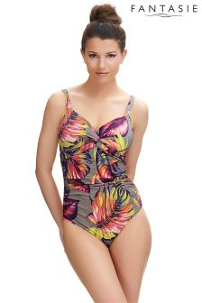 Fantasie Floral Kuramathi Underwired Twist Front Swimsuit