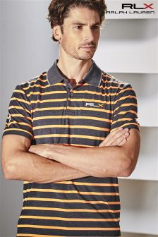 Ralph Lauren RLX Golf Grey/Orange Stripe Polo