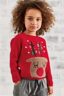 Reindeer Christmas Jumper (3mths-6yrs)