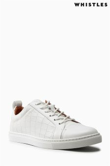 Whistles White Kenley Croc Trainer