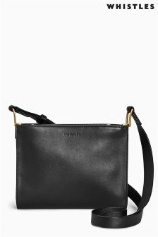 Whistles Navy Jara Pouch Cross Body Bag