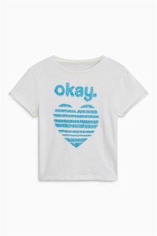 Slogan Sequin T-Shirt (3-16yrs)
