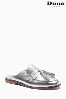Dune Silver Metallic Slip-On Loafer