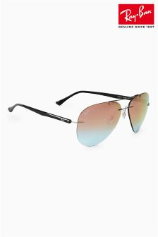 Ray-Ban® Pink Tech Rimless Aviator Sunglasses