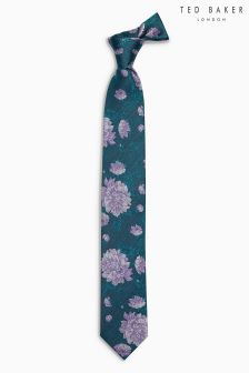 Ted Baker Navy Nerther Floral Tie