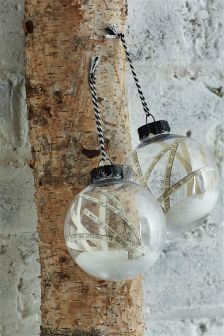 Set Of 2 Script Shaker Baubles