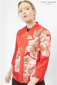 Ted Baker Red Ferox Floral Bomber