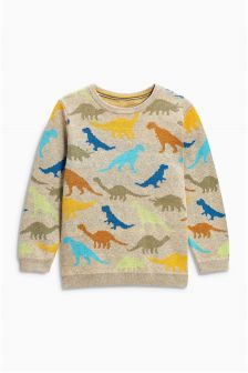 Dino Print Crew Neck (3mths-6yrs)