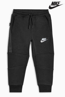 Nike Little Kids Black Tech Fleece Jogger