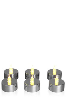 Set Of 6 LED Tealights