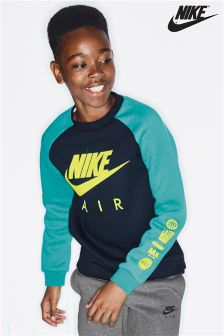 Nike Air Green/Black Long Sleeve Top