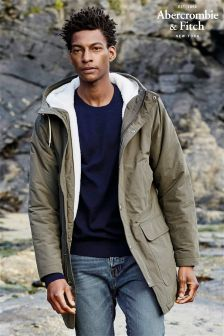 Abercrombie & Fitch Olive Parka