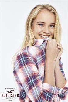 Hollister Cream Plaid Shirt