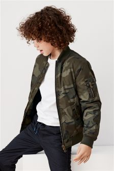 Camo Bomber Jacket (3-16yrs)