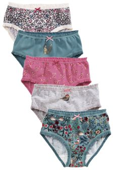 Frill Trim Briefs Five Pack (1.5-12yrs)