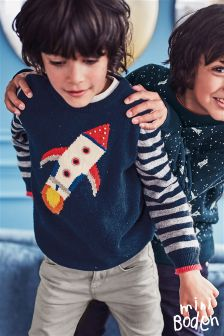 Boden Navy Rockets Space Crew Jumper