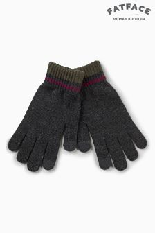 Fat Face Charcoal Touch Screen Gloves
