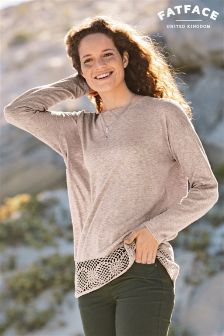 Fat Face Carrie Crochet Jumper