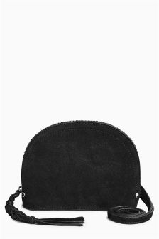 Suede Mini Across Body Bag