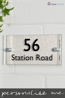 Personalised House Name Sign By Loveabode