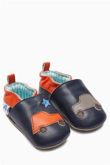 Character Slip-On Pram Shoes (Younger Boys)