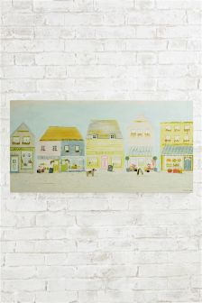 Artist Collection Village Life By Hannah Cole Canvas
