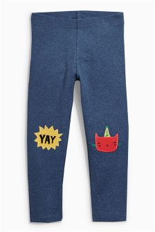 Cat Embroidered Leggings (3mths-6yrs)
