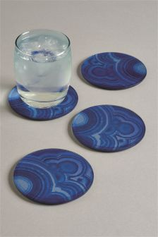 Set Of 4 Horizon Glass Coasters
